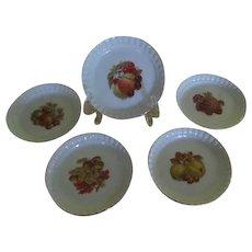 Royal Bareuther Bountiful Fruit Tart Plates - b239