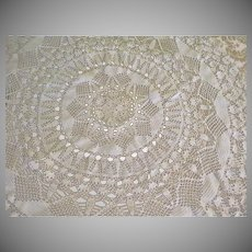 Star and Shell Crocheted Table Cover - b237