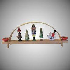 Ezgerirge Wood Christmas Candleholder - B239
