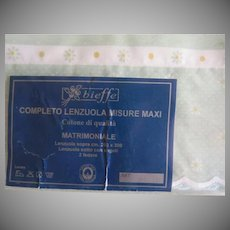 Bieffe Double Measure Cotone di Qualita Matrimoniale Sheet Set - L10