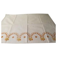 Golden Arches and roses Tablecloth - b244
