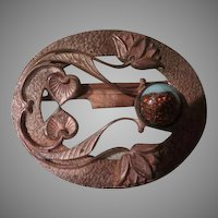Water Lilies Art Nouveau Belt Buckle - Free shipping