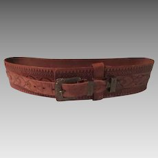 Dunhill Tooled Leather Belt - b263