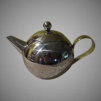 Mid Century Chrome Ball teapot- b252