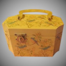 Decoupaged Bluebird Lunch Box Purse - b257