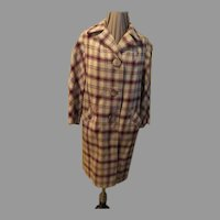 Bold Buttoned Plaid Coat