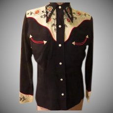Embroidered Yoke Western Wear Blouse
