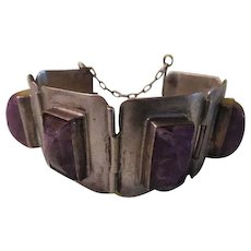 Monsta Silver and Amethyst Bracelet - Free shipping