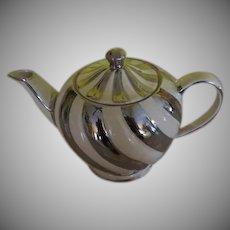 Platinum Swirl Stripe Sadler Teapot - b240