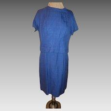 Royal Blue Linen 2 Piece Dress