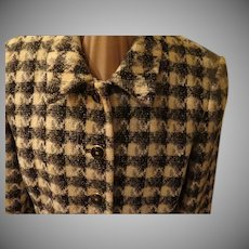 Bold Buttoned Check Jacket