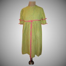 Green with pink Bows Robe
