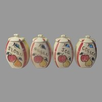 Purinton Fruit Apple and Pear Canister Set - b243