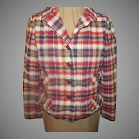 Mad About Madras Plaid Jacket/blazer