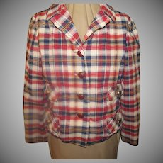 Mad About Madras Plaid Jacket/blazer