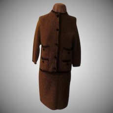 Nubby Texture Wool Blend Italian Suit