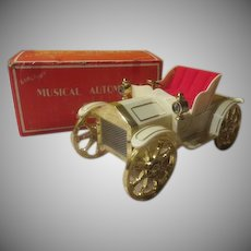 """Musical Automobile 'We've Only Just Begun"""" Music Box in Box - b244"""
