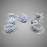 Tea For 6 - 17 Piece Dollhouse Tea Set - b243