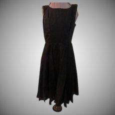 Swirl of Chiffon Black Dress