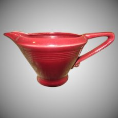 Homer Laughlin Harlequin Maroon Creamer - b249