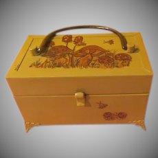 Decoupaged Mushroom Metal Lunch Box Purse - b257
