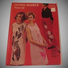 Alfred Shaheen Pattern 101, Skirt and Shift - b260