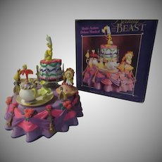 "Enesco Beauty and the Beast ""Be Our Guest"" Animated Music Box - b"