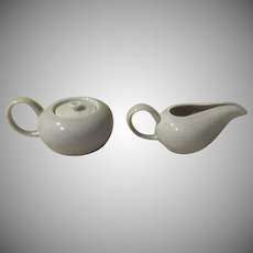 Russel Wright American Modern Creamer and Covered Sugar - b254
