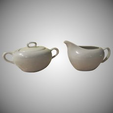 Graceful Gray Symphony by Harmony House Creamer and Covered Sugar - b248