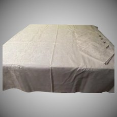 Waffle Woven Tablecloth and Napkins - L5