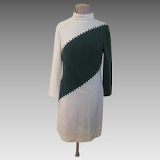 Bias for Green Long Sleeve Skimmer/dress