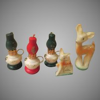 Lamps and Gurley Deer Candles - b249