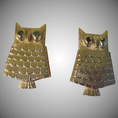 Give a Hoot Avon Owl Perfume Pin - free shipping