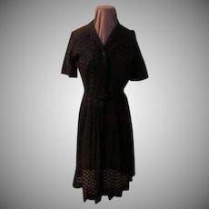 Peek-a-boo Eyelet Dress