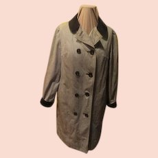 Check Out the Velvet Collar and Cuffs Coat