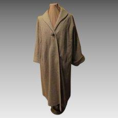 Turn Back Cuff Gray Stripe Swing Coat
