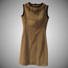 Flower Embroidered Skimmer/dress