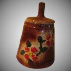 American Bisque Butter Churn Cookie Jar