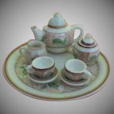 Pink Lotus Doll House Tea set - b256