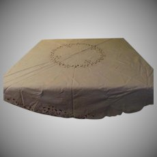 Round Cutwork Tablecloth - cl2
