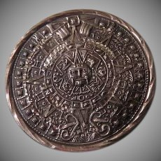 Mayan Calendar Silver Pendant/pin - Free shipping