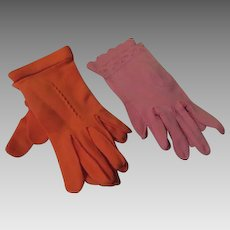 Petal Pink and orange you Glad Wrist Length Gloves - b250