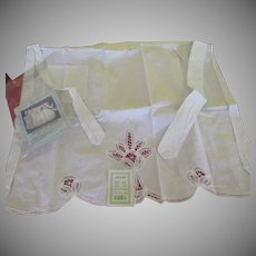 Battenburg Lace Apron - b255