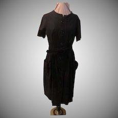 Patch Pocket Button Front Dress