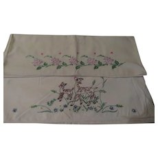 Flowers and deer Pillow Cases - b250