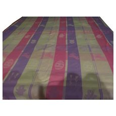 Spring Pastel Plaid Bunnies and Eggs Tablecloth - b254