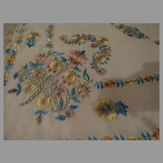 Blue and Gold Embroidered Cover/shawl