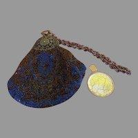 Royally Blue Beaded Bag - b255