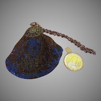 Royally Blue Beaded Bag - b255