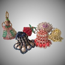 Angel, Bells and beaded Christmas Tree Ornaments - b263